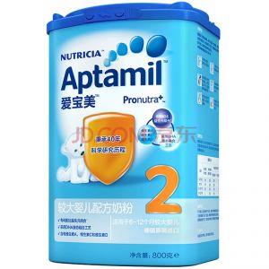 爱宝美Aptamil 较大婴儿配方奶粉2段800g(原装进口 罐)6-12个月
